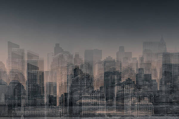 Architectural Digital Art - Manhattan Moves by Az Jackson