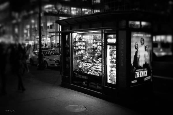 Photograph - Manhattan Newsstand, 42nd Street by Ross Henton