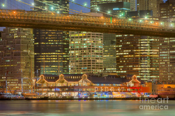 Photograph - Manhattan Night Skyline I by Clarence Holmes