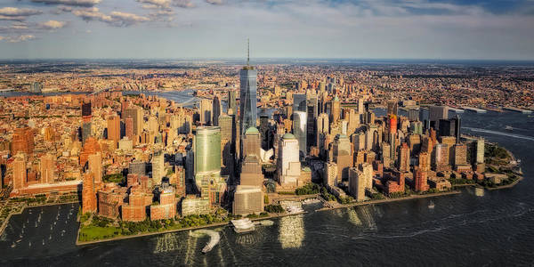Photograph - Manhattan Nyc Aerial View by Susan Candelario