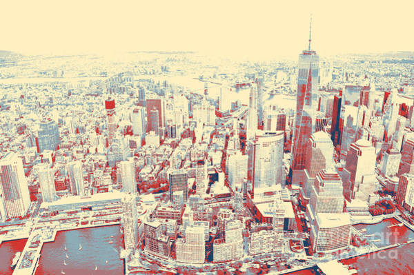 Painting - Manhattan Nyc by Celestial Images