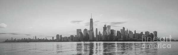Nine Eleven Photograph - Manhattan Panorama Black And White  by Michael Ver Sprill