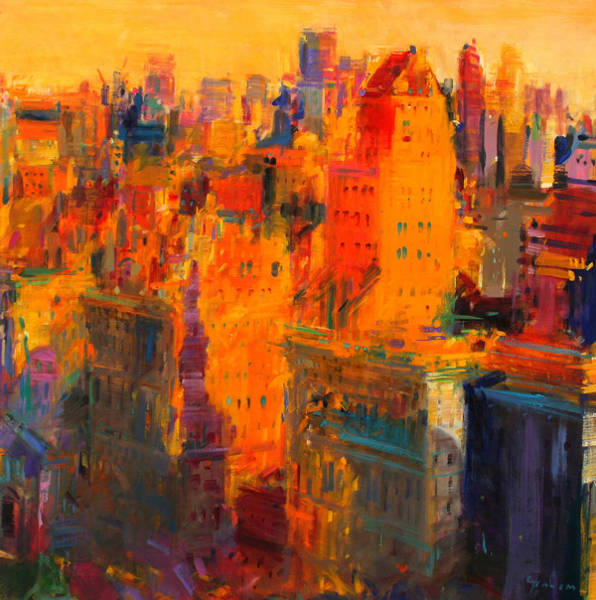 Tall Buildings Painting - Manhattan by Peter Graham