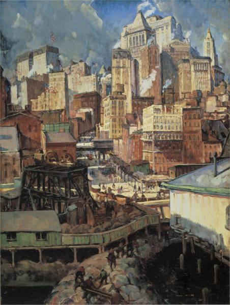 Painting - Manhattan Rhythms by Leon Kroll