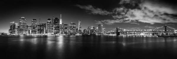 Lower Manhattan Photograph - Manhattan Skyline At Night by Az Jackson