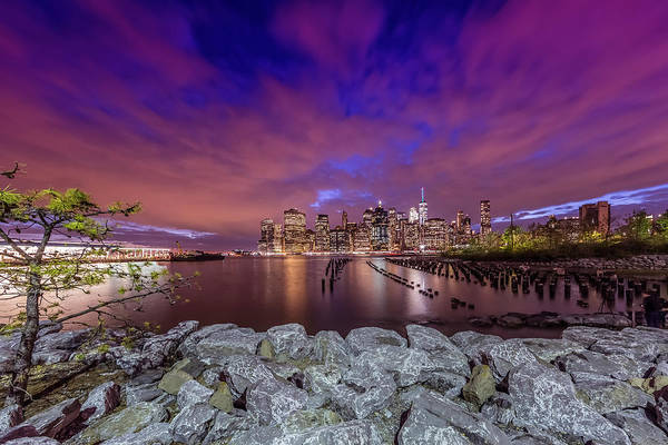Wall Art - Photograph - Manhattan Skyline Evening Atmosphere In New York City  by Melanie Viola