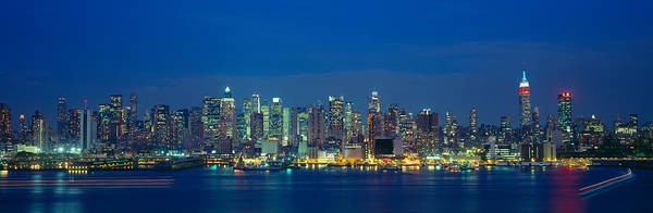 N.c Wall Art - Photograph - Manhattan Skyline From Weehawken, Nj by Panoramic Images