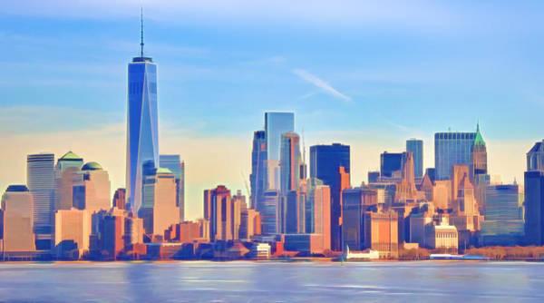Photograph - Manhattan Skyline by Lutz Baar