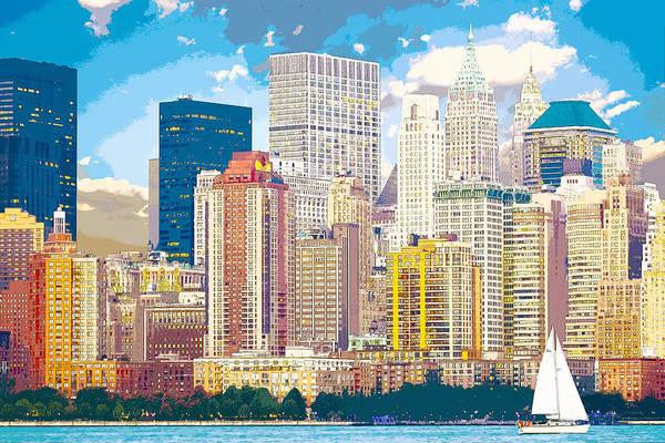 Digital Art - Manhattan Skyline New York City by Anthony Murphy