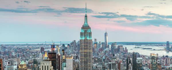 Wall Art - Photograph - Manhattan Skyline Panoramic, New York City, Usa by Matteo Colombo