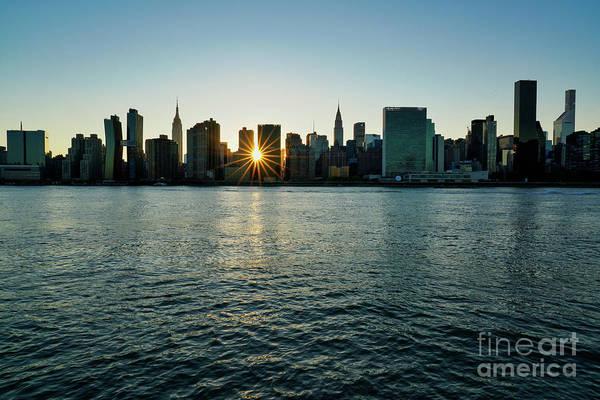 Wall Art - Photograph - Manhattan Skyline Sunburst by DAC Photo
