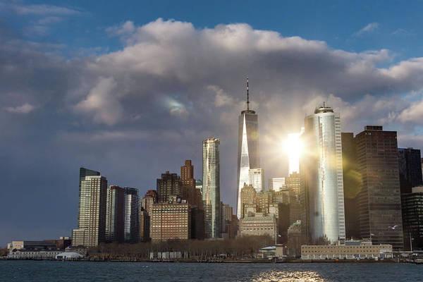 Photograph - Manhattan Skyline Sunburst by Framing Places