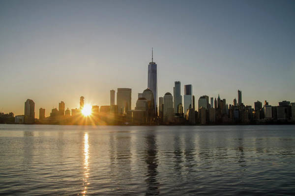 Photograph - Manhattan Skyline Sunrise by Bill Cannon