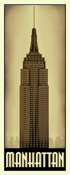 Empire State Building Digital Art - Manhattan by Steve Forney