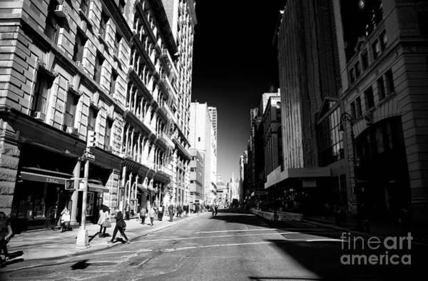 Photograph - Manhattan Street Shadows by John Rizzuto