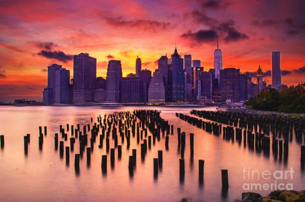 Photograph - Manhattan Sunset by Rima Biswas