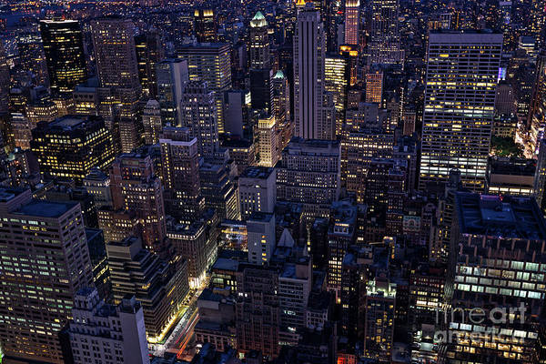 Photograph - Manhattan's Skyscrapers by Franz Zarda