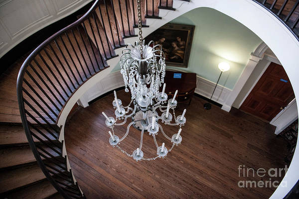 Photograph - Manigault Staircase by Dale Powell