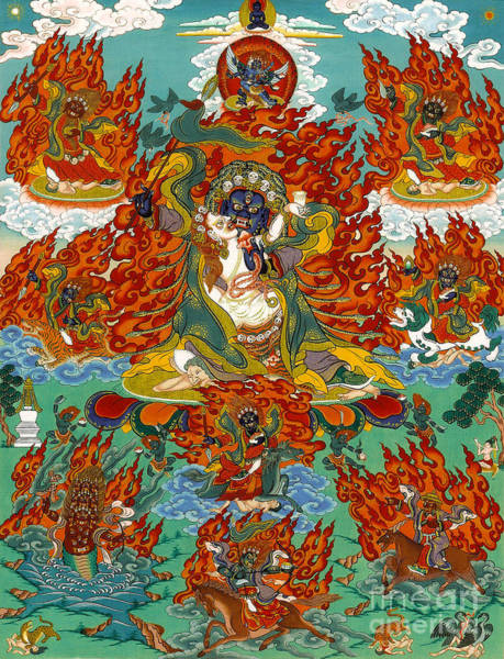 Dzogchen Painting - Maning Mahakala With Retinue by Sergey Noskov