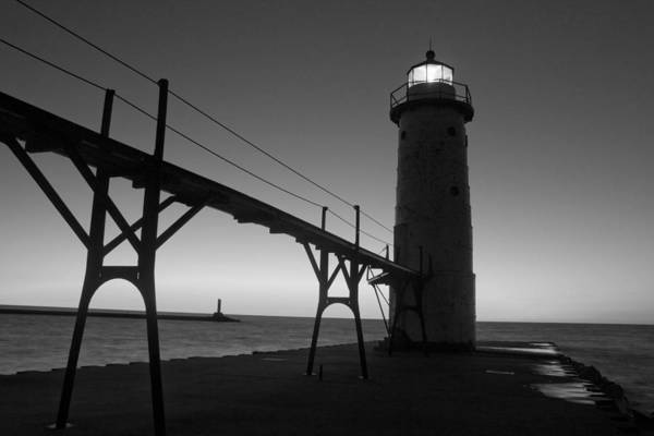 Manistee Photograph - Manistee Michigan Pier by Twenty Two North Photography