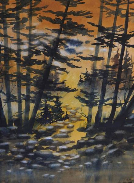 Manistee National Forest Wall Art - Painting - Manistee National Forest, 2 by David K Myers