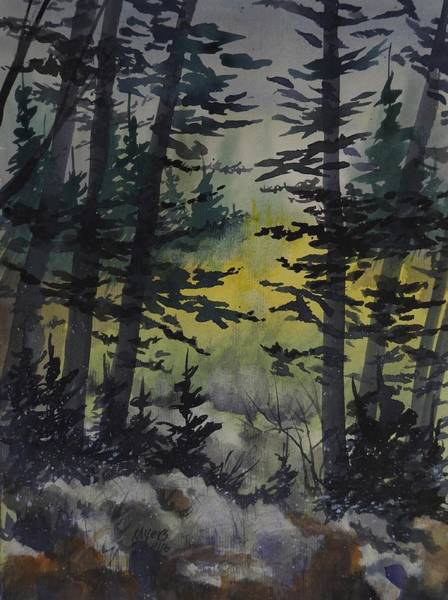 Manistee National Forest Wall Art - Painting - Manistee National Forest,  Watercolor Painting by David K Myers