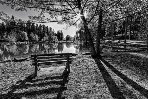 Photograph - Manito Spring Morning In Black And White by Mark Kiver