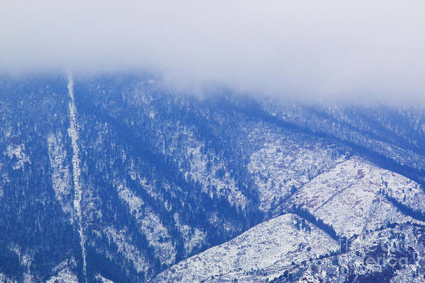 Photograph - Manitou Incline In Snow by Steve Krull