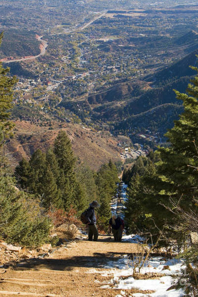 Photograph - Manitou Springs Incline Trail And Cityscape by Steve Krull