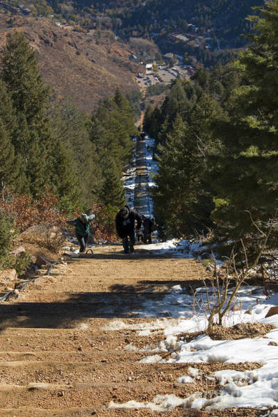 Photograph - Manitou Springs Incline Trail In Wintertime by Steve Krull