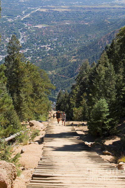 Wall Art - Photograph - Manitou Springs Pikes Peak Incline by Steve Krull