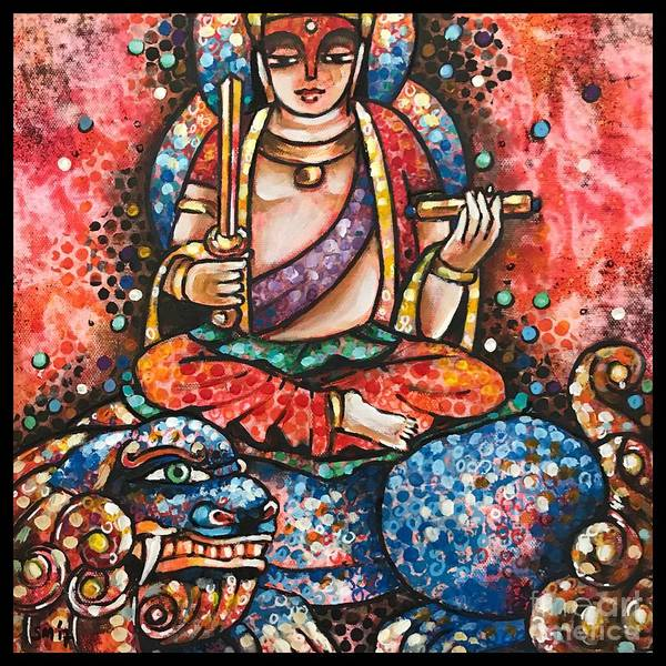 Boddhisatva Wall Art - Painting - Manjushri by Sonali Mohanty