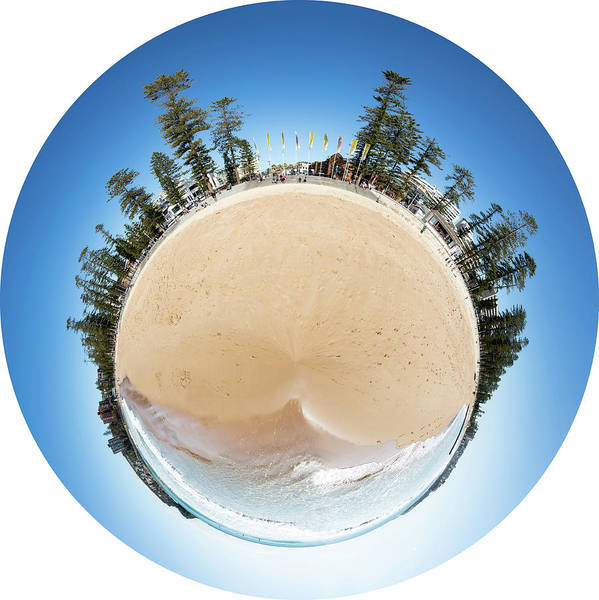 Photograph - Manly Beach Tiny Planet by Chris Cousins