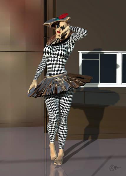 Wall Art - Digital Art - Mannequin Dressed Pierrette by Quim Abella