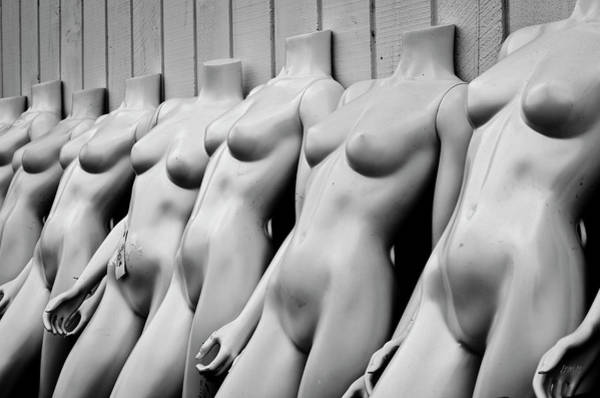 Photograph - Mannequin Lineup by Dave Gordon