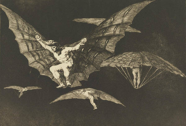 Relief - Manner Of Flying by Francisco Goya