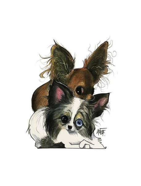 Pet Portrait Drawing - Manning 3260 by John LaFree
