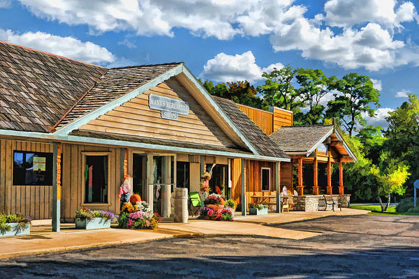 Painting - Mann's Mercantile Shops On Washington Island Door County by Christopher Arndt