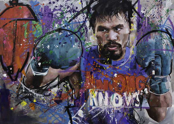 Boxing Painting - Manny Pacquiao by Richard Day