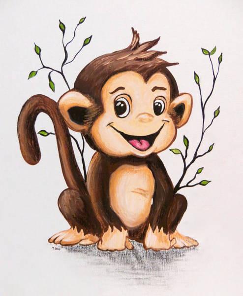 Manny The Monkey Art Print