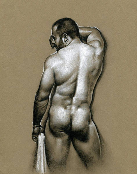 Male Nude Drawing - Manolo by Chris Lopez