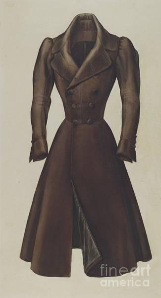 Wall Art - Drawing - Man's Topcoat by Henry De Wolfe