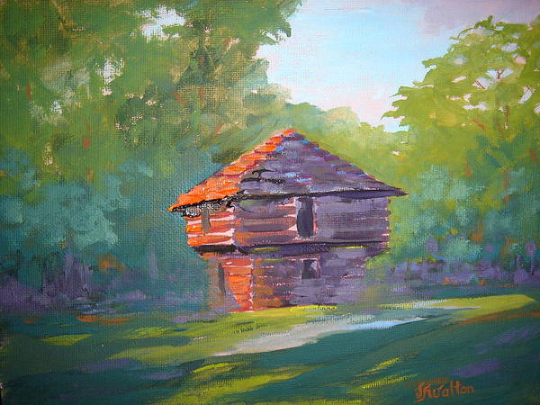 Painting - Mansfield Blockhouse by Judy Fischer Walton