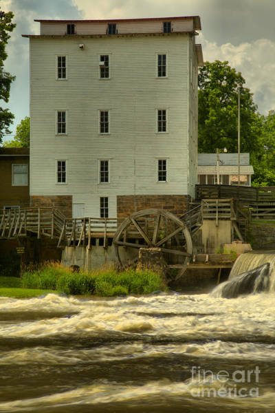 Photograph - Mansfield Grist Mill Portrait by Adam Jewell