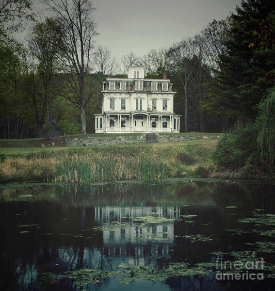 Photograph - Mansion Reflected At Waterloo by Debra Fedchin