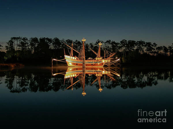 Suggestion Photograph - Manteo Elizabethan Ship by Norma Brandsberg