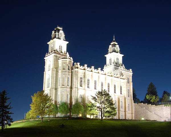 Church Of Jesus Christ Photograph - Manti Temple by John Wunderli