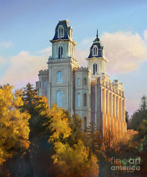Painting - Manti Temple Tall by Rob Corsetti