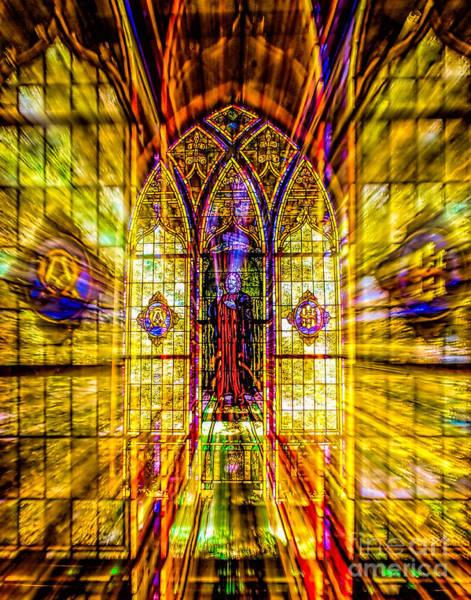 Photograph - Mantua Umc Stained Glass Window by Nick Zelinsky