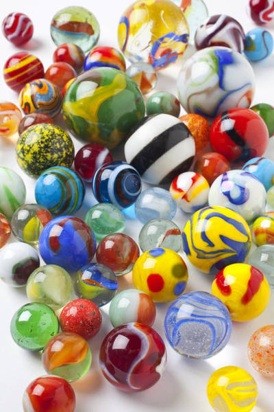 Shooters Wall Art - Photograph - Many Beautiful Marbles by Garry Gay